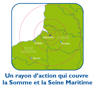 Notre rayon d'action : Somme & Seine Maritime